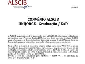 CONVENIO ALSCIB X UNIJORGE