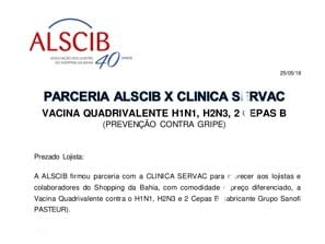 Parceria ALSCIB X CLINICA SERVAC