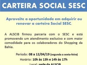 Faça sua carteira do SESC na ALSCIB!