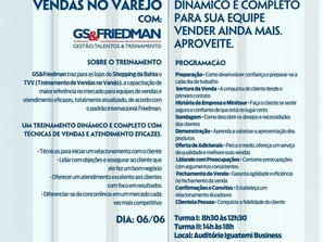 TVV - Treinamento de Vendas no Varejo com GS&Friedman