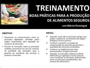Treinamento Boas Práticas para a Produção de Alimentos Seguros