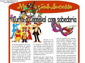 Curta o Carnaval com Sabedoria