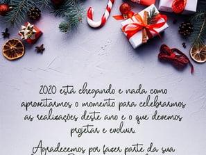 Desejamos um Feliz Natal e um Próspero 2020!