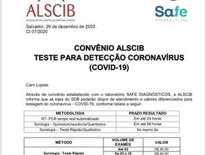 Convênio ALSCIB - Teste para detecção Coronavírus (COVID-19)