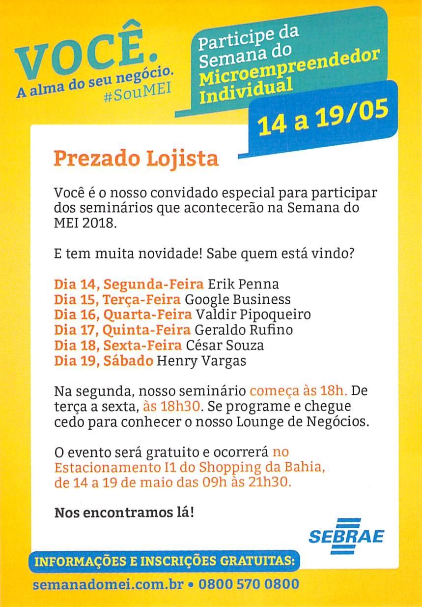 Semana do MEI - Shopping da Bahia