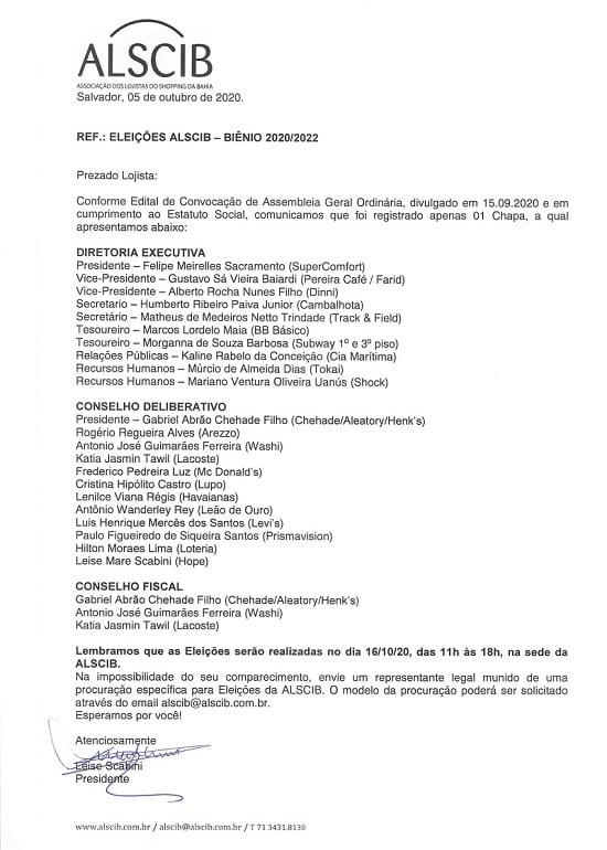 Eleições Biênio 2020/2022