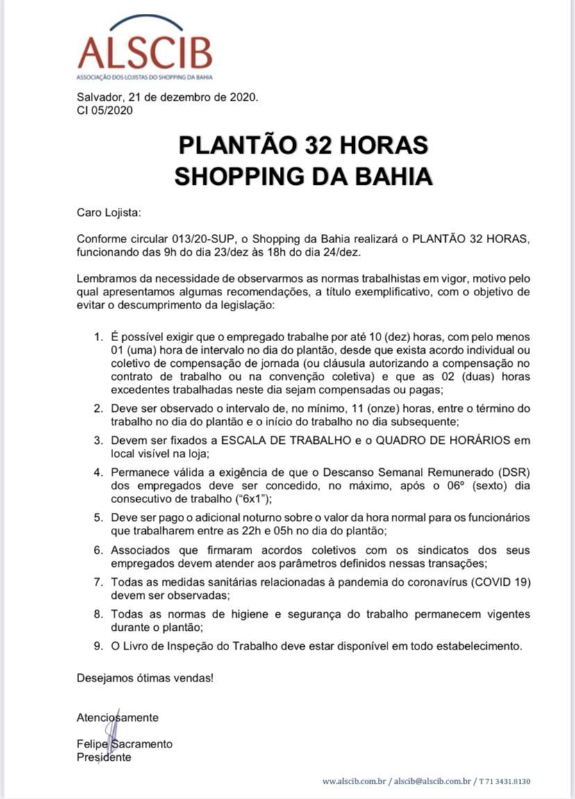 Plantão 32 horas - SDB